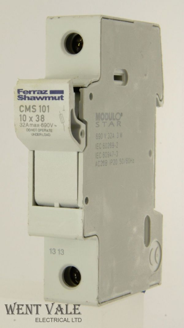 Ferraz Shawmut Modulo Star - CMS101 - 10 x 38 32amp (max) Cartridge Fuse Holder